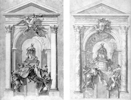 314-003アレッサンドロ7世の記念碑のデッサン