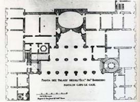 005-076バルベリーニ宮の設計図