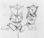 Doppia caricatura di prelato