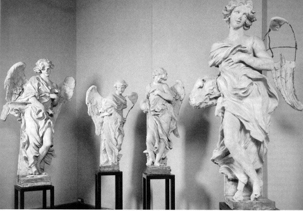 天使たちの立像 1667-68
