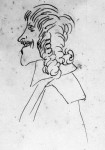 Caricatura d'uomo con baffi