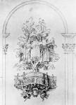 Progetto per l'organo alla Chiesa di S.M. del Popolo a Roma ヴァチカン美術館所蔵