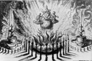 361-002アーヘン和約の祭典の花火