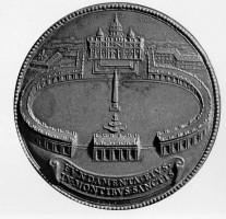 005-069コロンナートの初期の構想案を示すメダル