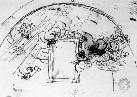 天井のデッサン:マドリッド国立図書館所蔵