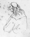 Caricatura d'uomo calvo