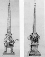 Obelisco della Minerva,particolare del basamento con I'elefante ヴァチカン美術館所蔵
