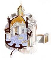 020-004サンタンドレア・アル・クィリナーレ教会の断面図