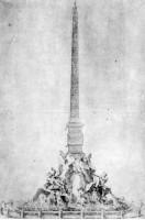 Disegno per la Fontana dei Quatro Fiumi 1650