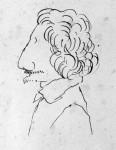 Caricatura d'uomo con baffi e pizzetto