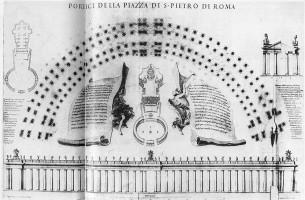 サン・ピエトロ広場の設計図