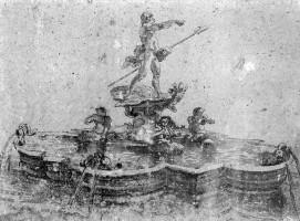 314-0012ムーア人の噴水のデッサン