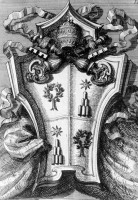 Targa con stemma di AlessandroVII dalla Sala Ducale in Vaticano