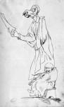 Caricatura di cantante e suonatore di violino