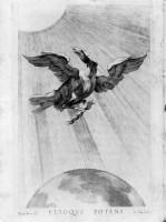 Aquila tra il sole e la terra 1652