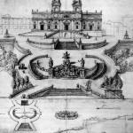 Sketch for a monumental staircase leading to Santissima Trinita dei Monti Studio per la Scalimata di Trinita de Monti disegno del 1660 cod.Chig PⅦ 10, c.30-31