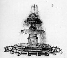 001-003サン・ピエトロの噴水のスケッチ