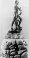 316-001ムーア人の噴水の習作ブロンズ